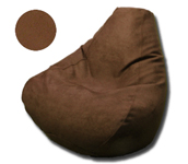 Simsuede Coffee Bean Bean Bag Chairs for Adults