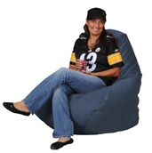 Simsuede Cobalt Blue  Bean Bag Chairs for Adults