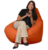 Big Beanbag in Orange