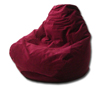 Velvet Red Bean Bag Chair