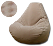 Velvet Tan Bean Bag Chair