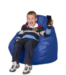 Kid Bean Bag Chairs in  Bright Blue