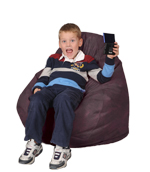 Black Raspberry Kids Bean Bag Chairs