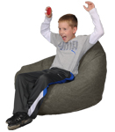 Denim Fatigue Green Kids Bean Bag Chairs