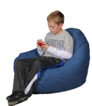 Denim Stonewash Blue Dark Kids Bean Bag Chairs