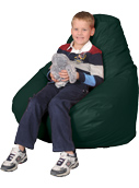 Hunter Green Kids Bean Bag Chairs