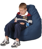 Simsuede Cobalt Blue Kids Bean Bag Chair