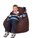 Spicy Brown Kids Bean Bag Chairs